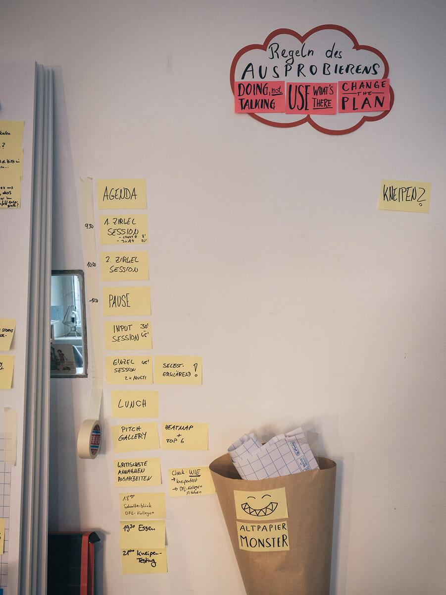 DFL Innovation Sprint: Ideenwand