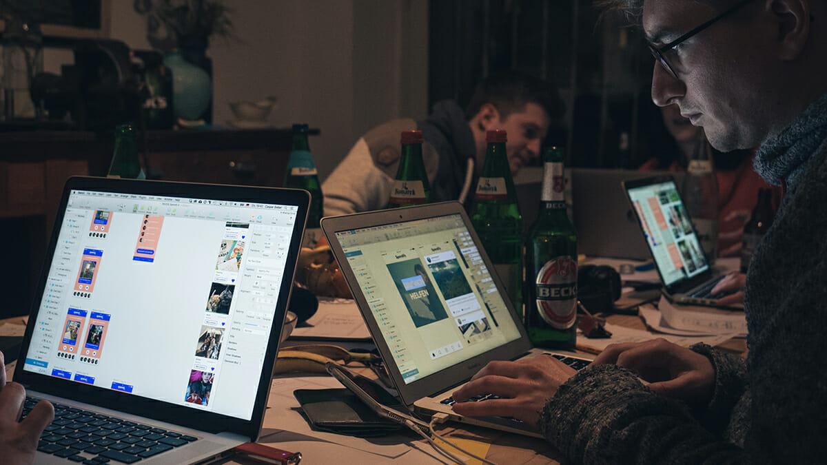 Unsere Teilnehmer bauen digitale Prototypen beim DFL Innovation Sprint